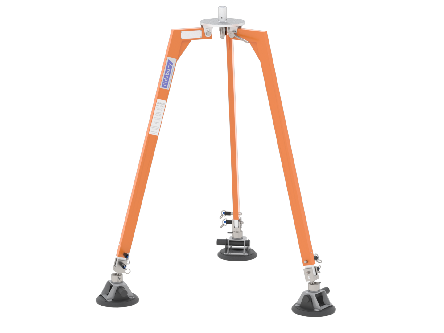 1.4m Steel Tripod with Suction Feet